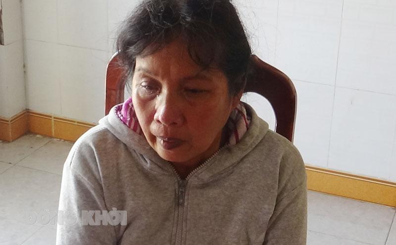 Bà Huỳnh Thị Lệ tại cơ quan điều tra.