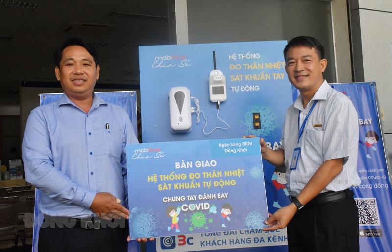 Trao máy tại BIDV Chi nhánh Đồng Khởi.