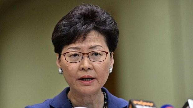 Trưởng Đặc khu hành chính Hong Kong (Trung Quốc) Lâm Trịnh Nguyệt Nga. Ảnh: AFP