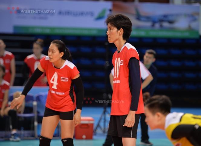 Bích Tuyền đã có một ngày thi đấu khá hay trước đội bóng chủ nhà Than Quảng Ninh