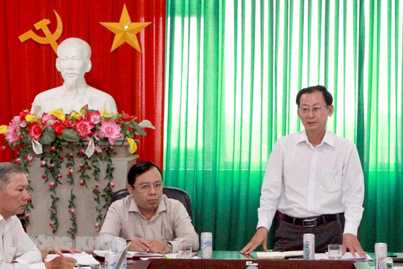 Phó chủ tịch UBND tỉnh Nguyễn Minh Cảnh phát biểu chỉ đạo.