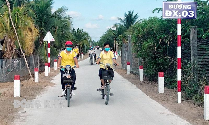 Đường giao thông nông thôn xã An Hóa.