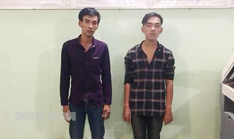 2 đối tượng Phan Thanh Tuấn (trái) và Huỳnh Quang Minh. Ảnh: Lê Nguyễn