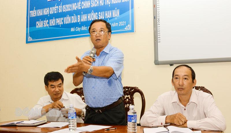 Ông Nguyễn Văn Dũng - Phó Chi cục trưởng Chi cục Trồng trọt và Bảo vệ thực vật phát biểu.