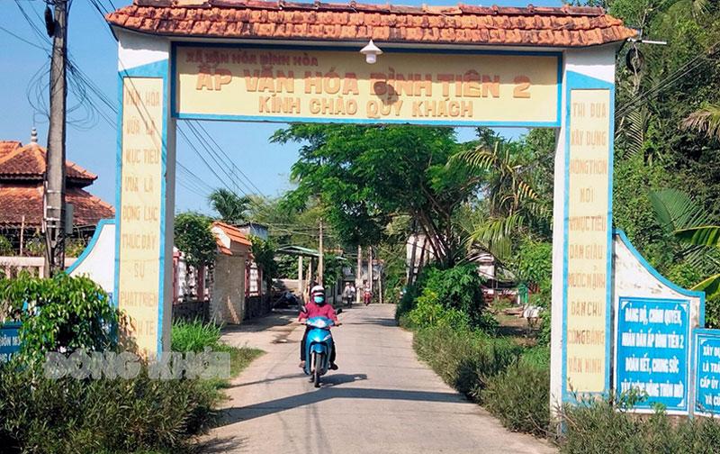 Đường giao thông ấp Bình Tiên 2.