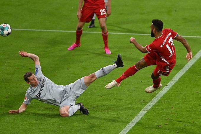Choupo-Moting đá bồi mở tỷ số trận đấu Bayern vs Leverkusen