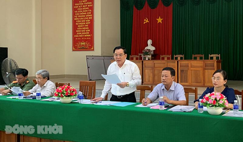 Chủ tịch UBND tỉnh Trần Ngọc Tam kiểm tra công tác bầu cử tại xã An Hiệp.
