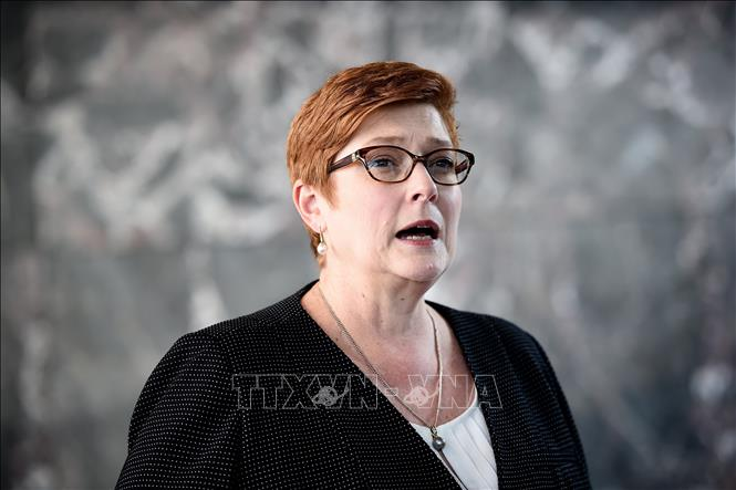 Ngoại trưởng Australia Marise Payne. Ảnh: AFP/TTXVN