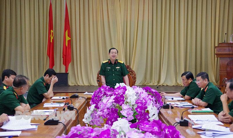 Bộ Chỉ huy Quân sự tỉnh tổ chức hội nghị hiệp thương giới thiệu các đồng chí ứng cử đại biểu Quốc hội khóa XV và đại biểu HĐND các cấp, nhiệm kỳ 2021 - 2026.