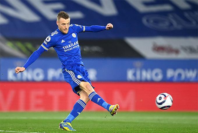 Vardy mở tỷ số trận Leicester vs West Brom
