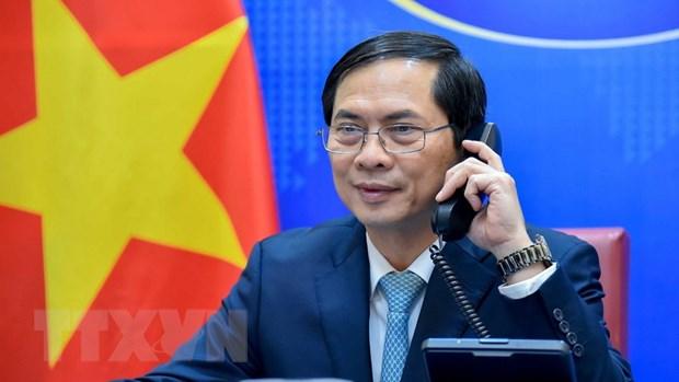 Bộ trưởng Bộ Ngoại giao Bùi Thanh Sơn. (Ảnh: TTXVN phát)
