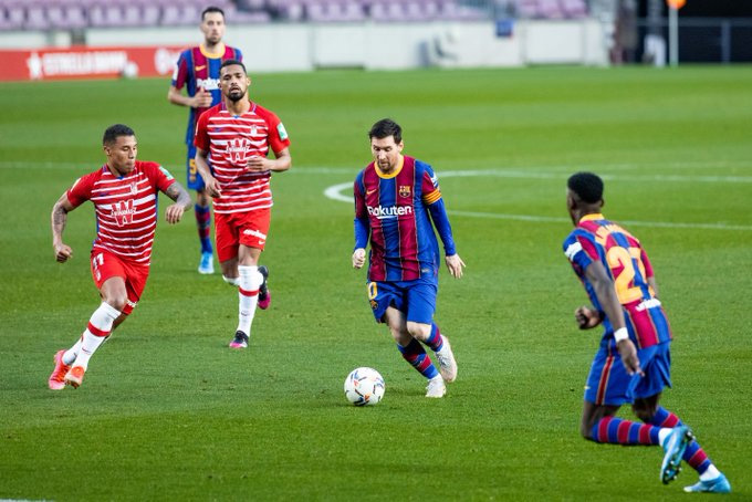 Messi ghi bàn mở tỷ số giữa hiệp 1