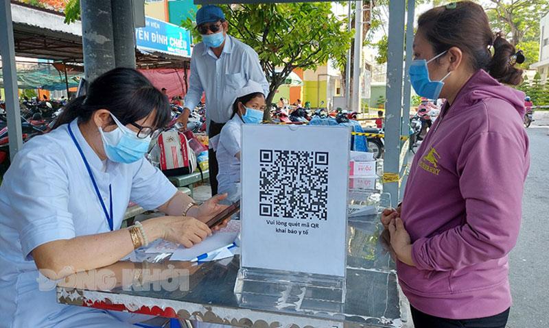 Bệnh viện Nguyễn Đình Chiểu triển khai khai báo y tế bằng QR Code.