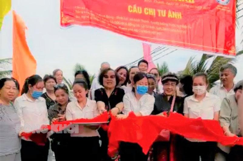Khánh thành cầu nông thôn ấp Bình Lợi, xã Bình Thành.