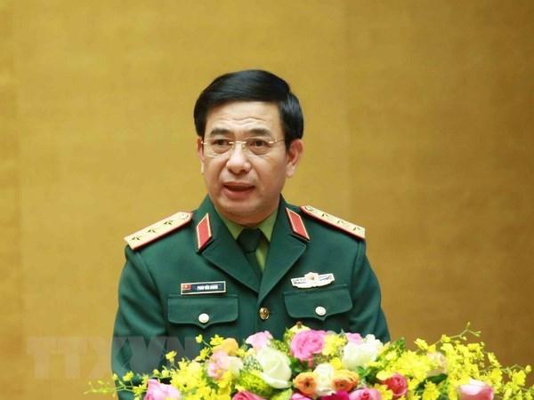 Thượng tướng Phan Văn Giang, Ủy viên Bộ Chính trị, Ủy viên Thường vụ Quân ủy Trung ương, Bộ trưởng Bộ Quốc phòng. Ảnh: Phương Hoa/TTXVN
