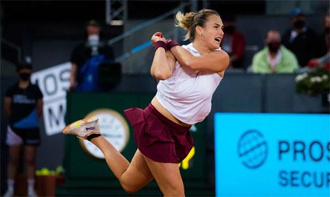 Aryna Sabalenka mới có danh hiệu WTA 500 ở Abu Dhabi hồi tháng Giêng đầu năm 2021