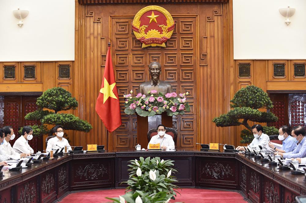 Thủ tướng Phạm Minh Chính: Nguồn lực con người là quan trọng nhất, mang tính quyết định với sự nghiệp xây dựng và phát triển đất nước. Ảnh VGP/Nhật Bắc
