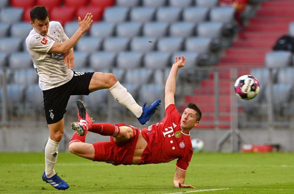 Bayern Munich giành chiến thắng tưng bừng trước Monchengladbach. Ảnh: Getty