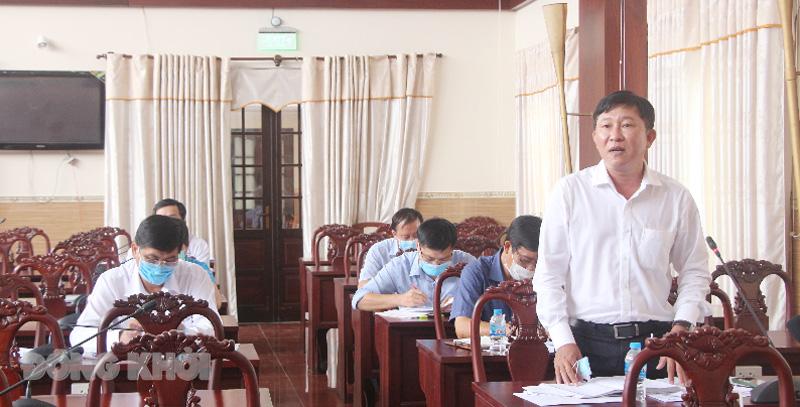 Đơn vị huyện Mỏ Cày Nam tham gia đóng góp ý kiến.