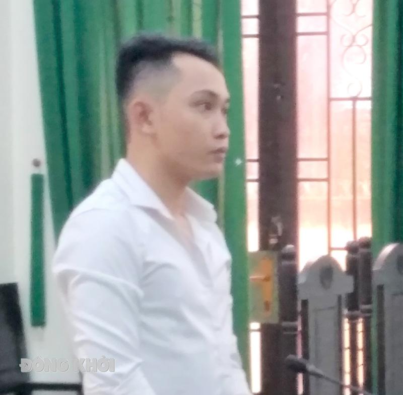Bị cáo Quí tại phiên tòa.