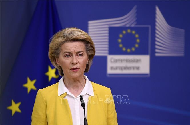 Chủ tịch Ủy ban châu Âu Ursula von der Leyen. Ảnh: AFP/TTXVN