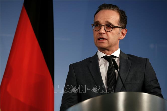 Ngoại trưởng Đức Heiko Maas phát biểu trong cuộc họp báo tại Berlin. Ảnh: AFP/TTXVN