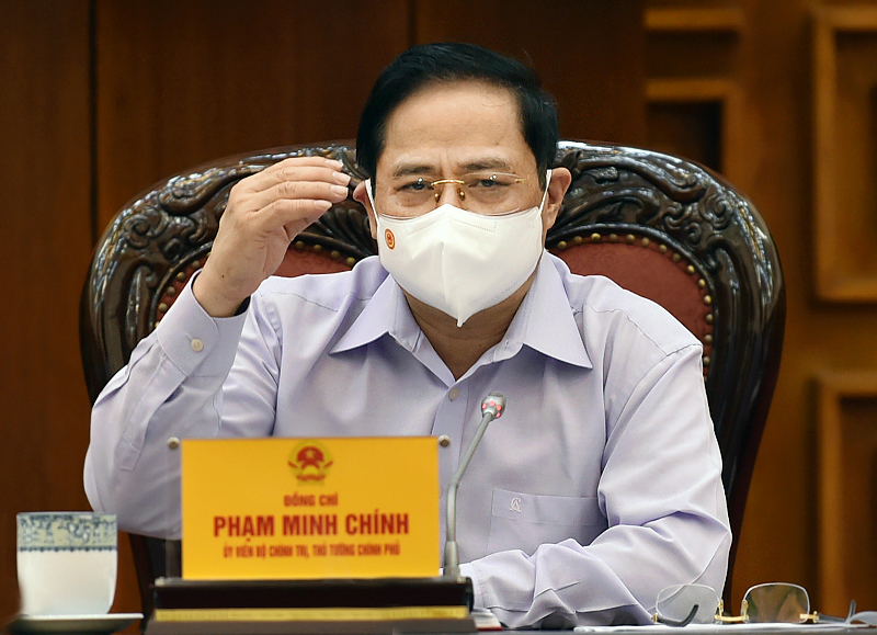 Thủ tướng Phạm Minh Chính chủ trì họp Thường trực Chính phủ về công tác tổ chức bầu cử. Ảnh: VGP/Nhật Bắc