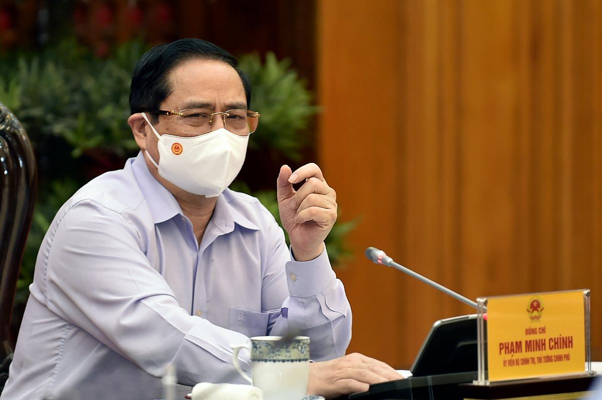 Thủ tướng Chính phủ Phạm Minh Chính phát biểu tại cuộc làm việc. Thủ tướng yêu cầu, Bộ cần tập trung xây dựng chiến lược phát triển các ngành, lĩnh vực; đi kèm cơ chế, chính sách phù hợp, hiệu quả và nguồn lực thực hiện. Ảnh: VGP/Nhật Bắc