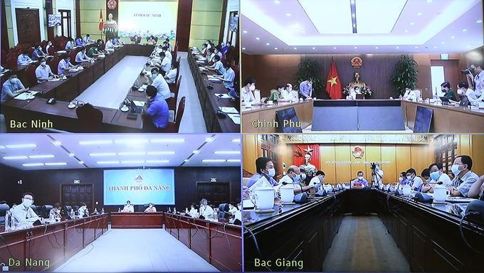 Lãnh đạo TP Đà Nẵng, Bắc Ninh, Bắc Giang khẳng định cơ bản đã khoanh vùng, cách ly được các ổ dịch trong KCN, tiếp tục khẩn trương truy vết, lấy mẫu, xét nghiệm các trường hợp F1, F2. Ảnh: Đình Nam