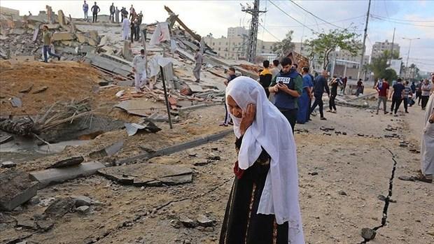 Tình hình chiến sự tại Dải Gaza vẫn tiếp diễn. Nguồn: aa.com.tr