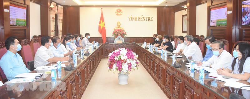 Đại biểu tham dự hội nghị tại điểm cầu tỉnh.