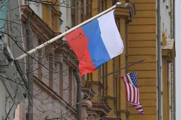 Tòa nhà Đại sứ quán Mỹ ở Moskva, Nga. (Ảnh: AFP/TTXVN)
