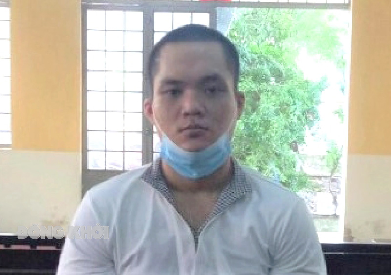 Bị cáo Nguyễn Quốc Duy tại phiên tòa.