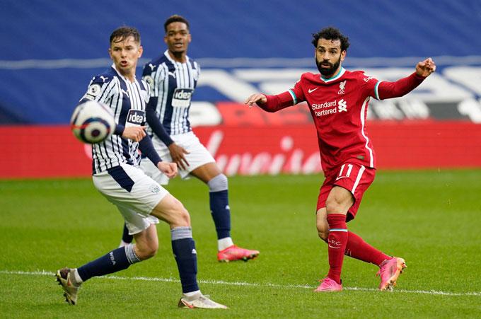 Salah gỡ hòa 1-1 ở phút 33