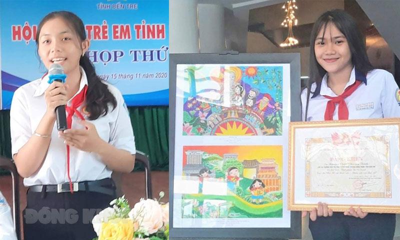 Em Huỳnh Ngọc Anh Thy và Nguyễn Châu Phương Trinh. Ảnh: Facebook