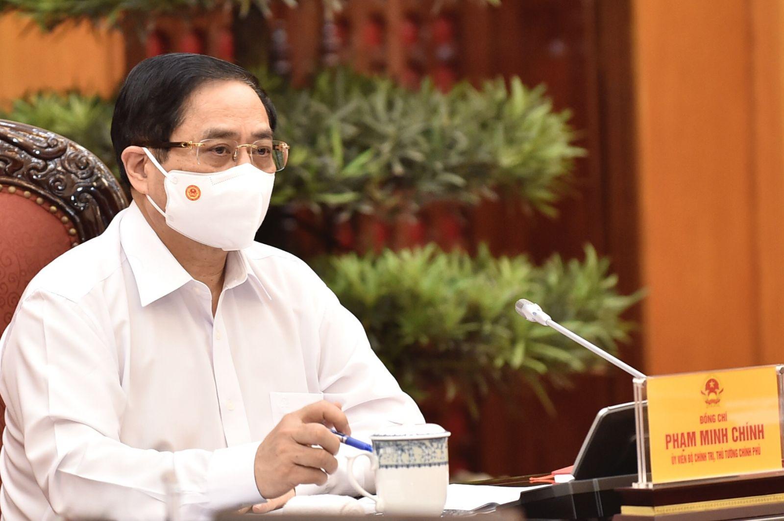 Thủ tướng Phạm Minh Chính phát biểu tại cuộc họp. Ảnh: VGP/Nhật Bắc