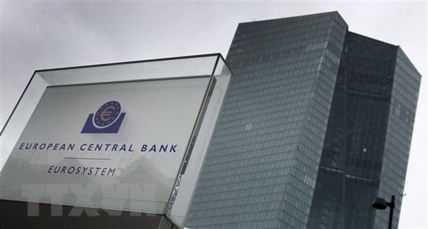 Trụ sở Ngân hàng Trung ương châu Âu (ECB) tại Frankfurt am Main, miền tây nước Đức. (Ảnh: AFP/TTXVN)
