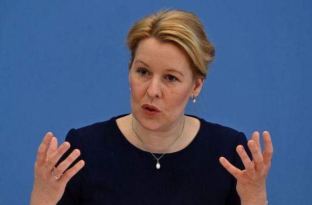 Bộ trưởng Gia đình Đức Franziska Giffey. Ảnh: Reuters