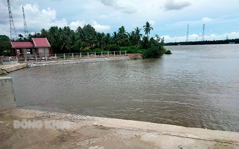 Khu vực sông xảy ra tai nạn.