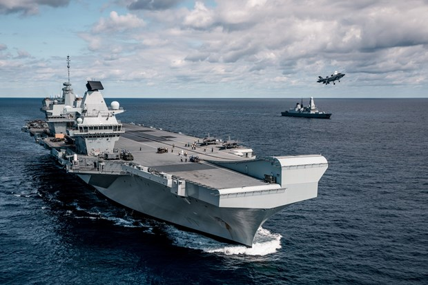 Tàu sân bay HMS Queen Elizabeth. (Nguồn: PA)