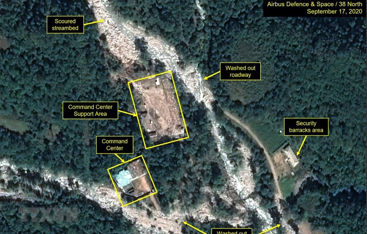 Phía Bắc và Tây của cơ sở hạt nhân Punggye-ri ở tỉnh Bắc Hamkyong, Triều Tiên ngày 25/9/2020. Ảnh do kênh vệ tinh 38 độ Bắc cung cấp. Nguồn: YONHAP/TTXVN