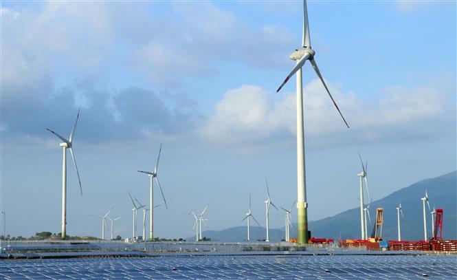 Trang trại điện gió Trung Nam được khánh thành ngày 16-4-2021 tại huyện Thuận Bắc (Ninh Thuận). Ảnh: Công Thử/TTXVN