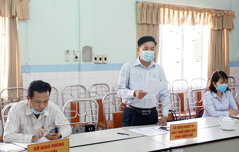 Phó giám đốc Sở Nông nghiệp và Phát triển nông thôn Nguyễn Văn Buội đề xuất giải pháp tiêu thụ vải thiều Bắc Giang.