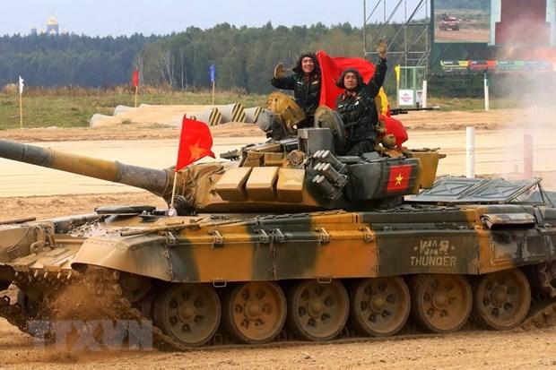 Kíp xe tăng Việt Nam tại Army Games 2020. Ảnh: Trần Hiếu/TTXVN