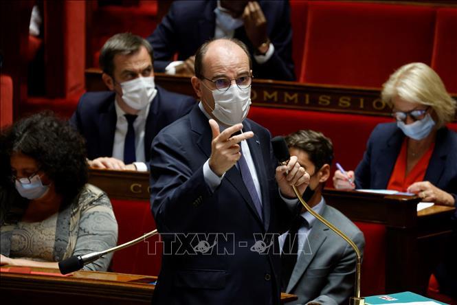 Thủ tướng Pháp Jean Castex phát biểu trong phiên họp Quốc hội tại thủ đô Paris ngày 8-6-2021. Ảnh: AFP/TTXVN