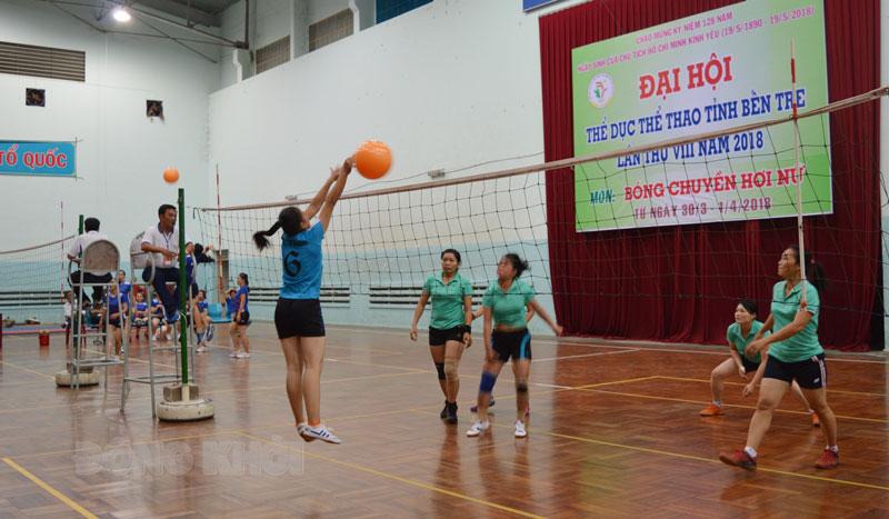 Thi đấu môn Bóng chuyền tại Đại hội TDTT lần thứ VIII.