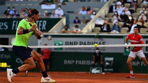 Nadal đạt tỷ lệ bóng một vào sân không tồi (65%), nhưng mắc tám lỗi kép cả trận