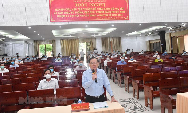 Phát biểu của Chủ tịch UBND tỉnh Trần Ngọc Tam.