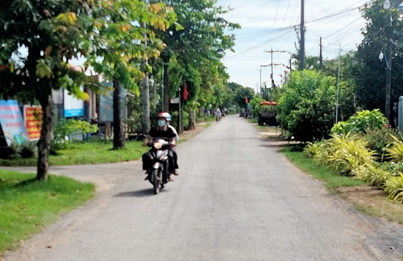 Đường giao thông nông thôn ấp Phú Mỹ, xã Phú Vang.