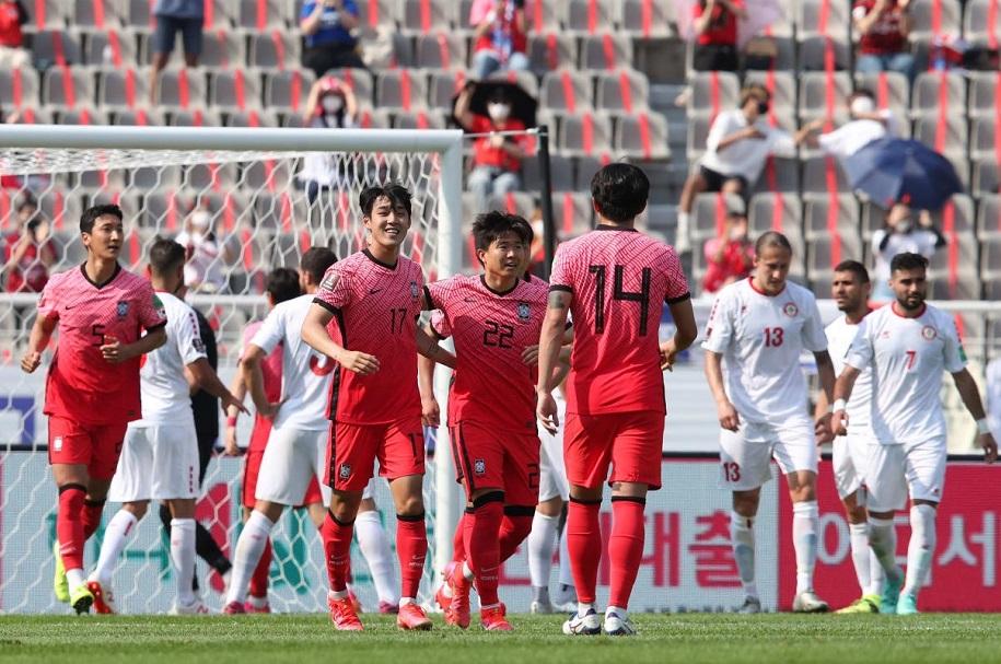 Trận thua trước Hàn Quốc khiến Lebanon tự bắn vào chân mình ở cuộc đua giành 5 suất hạng nhì có thứ hạng tốt nhất để vào vòng loại thứ 3 World Cup 2022. Ảnh: AFC